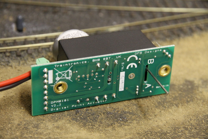 TrainTronics TT300 DCC Point Motor - developed by GFB Designs
