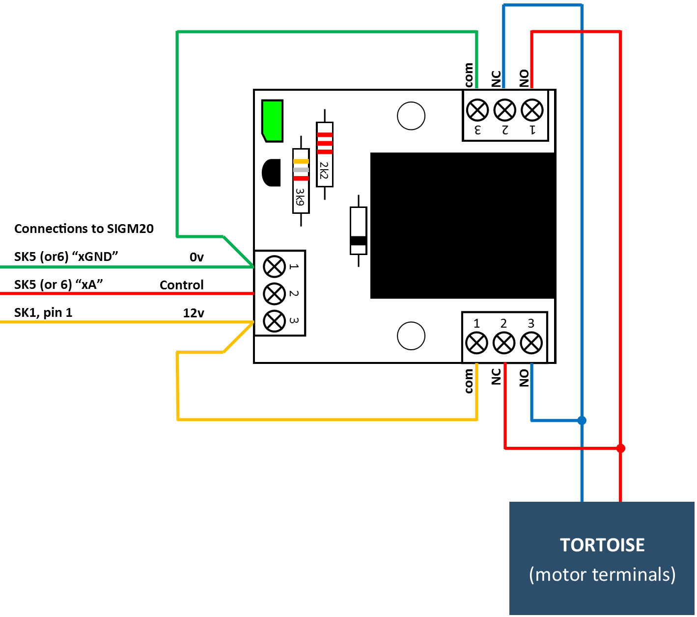 SIGM20 RLY2 Tortoise sigm20 controlling semaphore signals with tortoise motors (tn tortoise point motor wiring diagram at gsmx.co